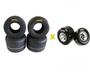 A categoria Sênior utilizará os pneus FZ AMARELOS e as categorias Sênior B e Super Sênior utilizarão os pneus HZ vermelho.