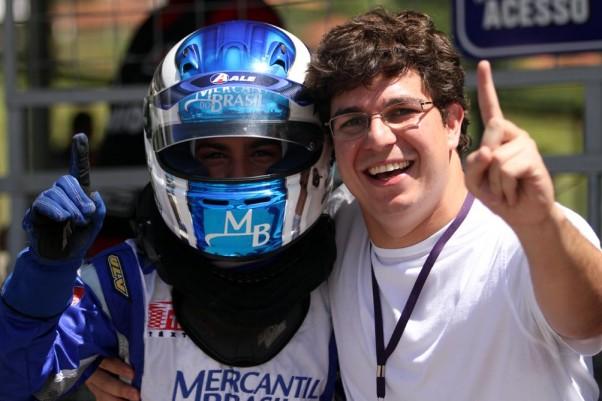 Fotos: Flávio Quick – Serginho e Djim de Andrade Martins – Representante dos chassis ART no Brasil.