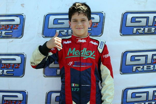Foto: Flávio Quick - Marcel Della Coletta coneguiu se classificar para o GP na classe Júnior Menor.