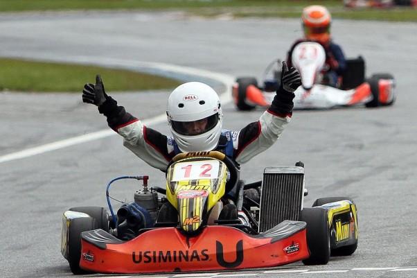 Foto: Flávio Quick - Gustavo Zwetkoff venceu na Júnior Menor.