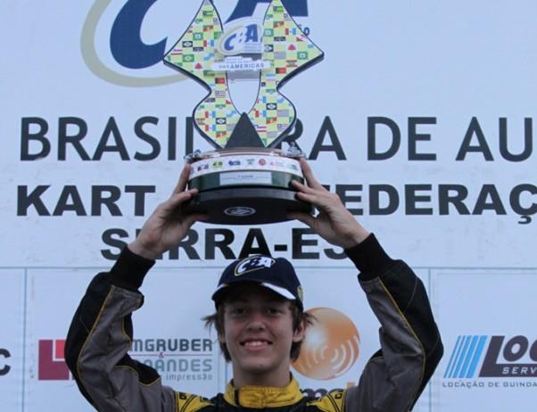 Foto: Divulgação – Vieira será o representante brasileira na Copa das Américas de Kart.