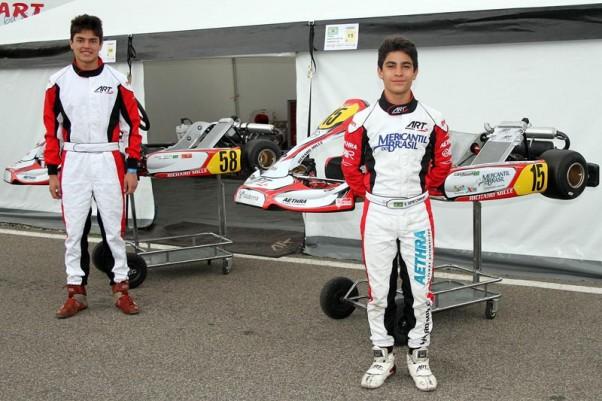 Foto: Flávio Quick - Os pilotos brasileiros, com apoio exclusivo da equipe ART Grand-Prix, no X30 World.