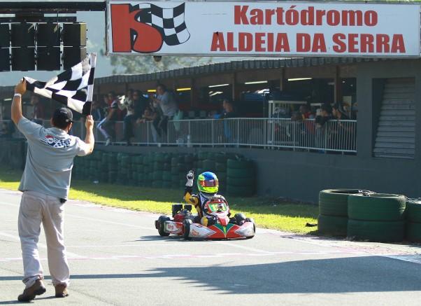 Foto: Luiz Pinheiro - Felipe Batista Birel Sudam, vencedor da 4ª etapa do Light na categoria Cadete