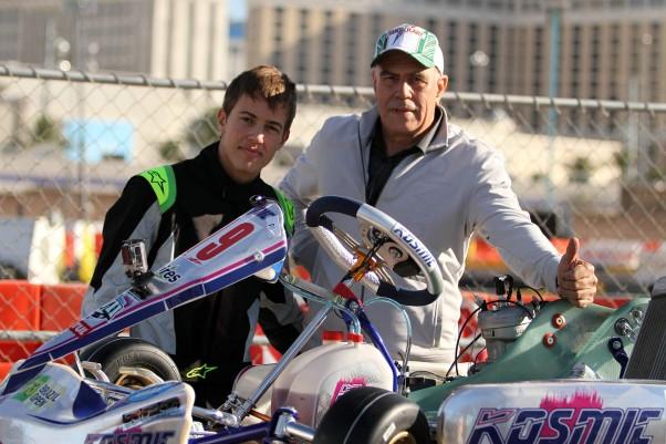 Fotos: Flávio Quick - João, como sempre, teve seu pai Antônio Vieira cuidando de seu kart.